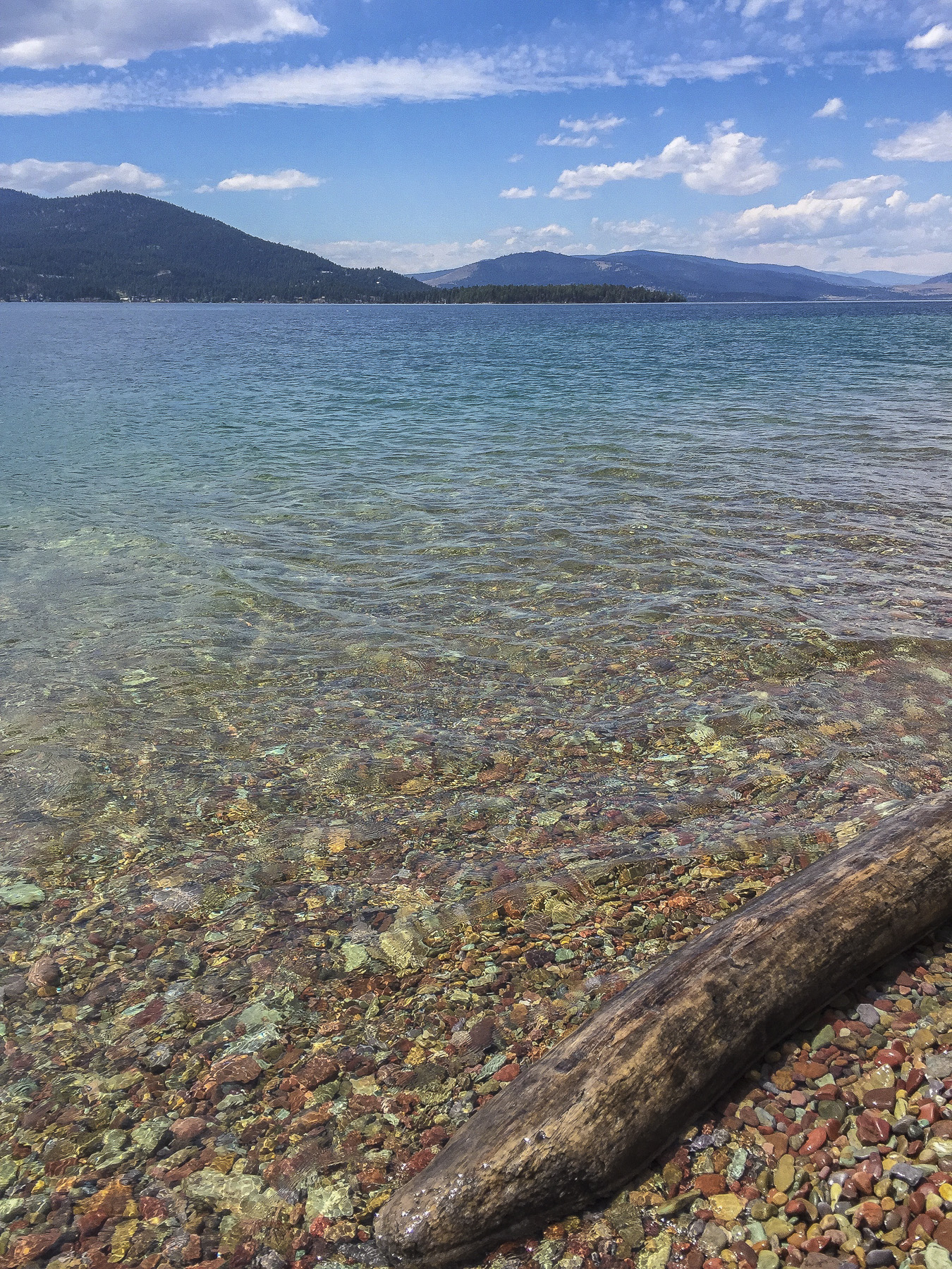 the clear Montana water