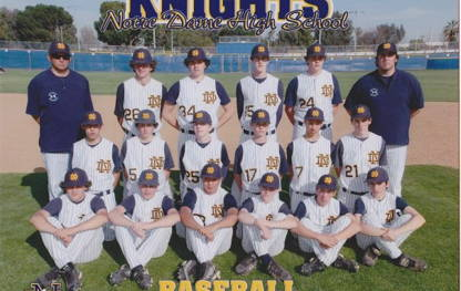 Notre Dame Knights: character, sportsmanship and respect for teammates