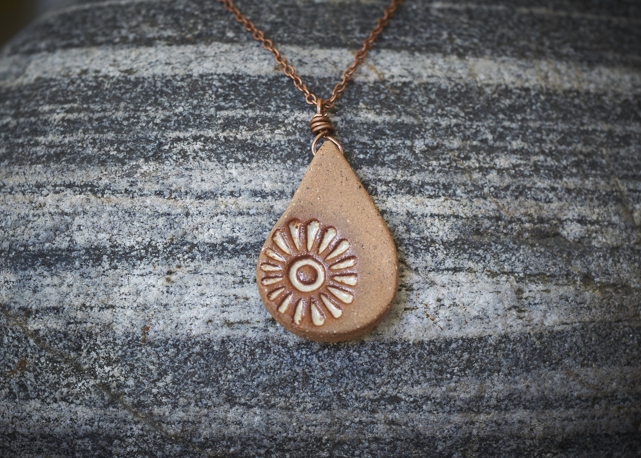 Sierra Necklace with copper chain