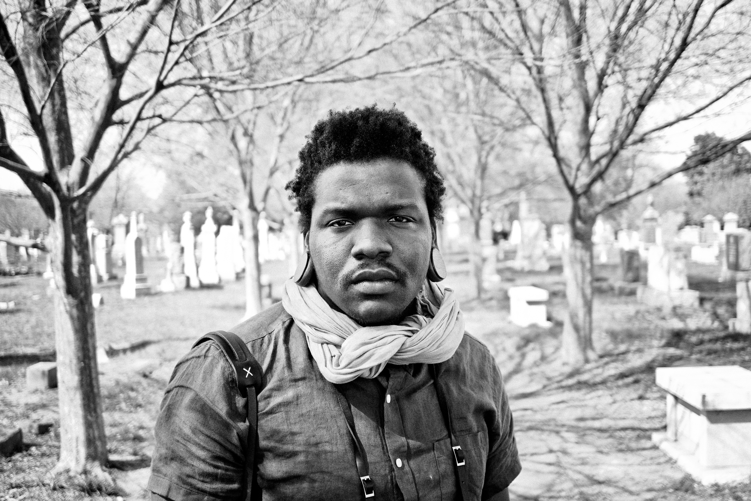 Personal work shot at Congressional Cemetery,featuring DC-based photographer  Donovan Gerald .