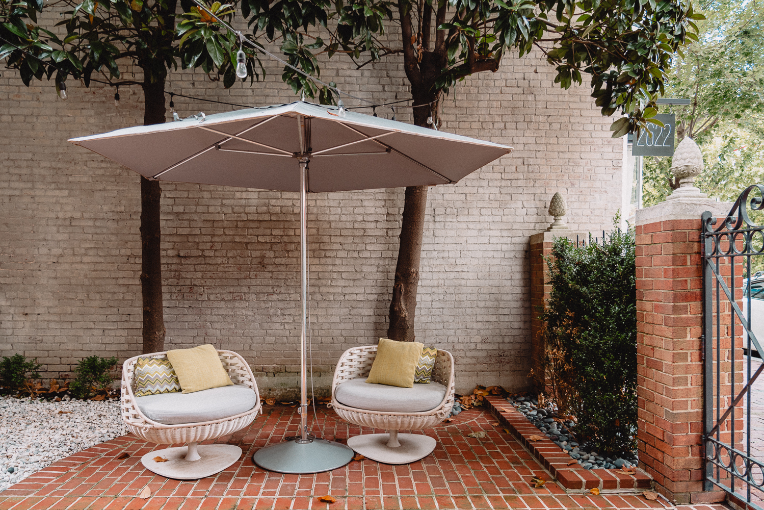 Outdoor spaces at the Avery, in Georgetown, Washington, DC.
