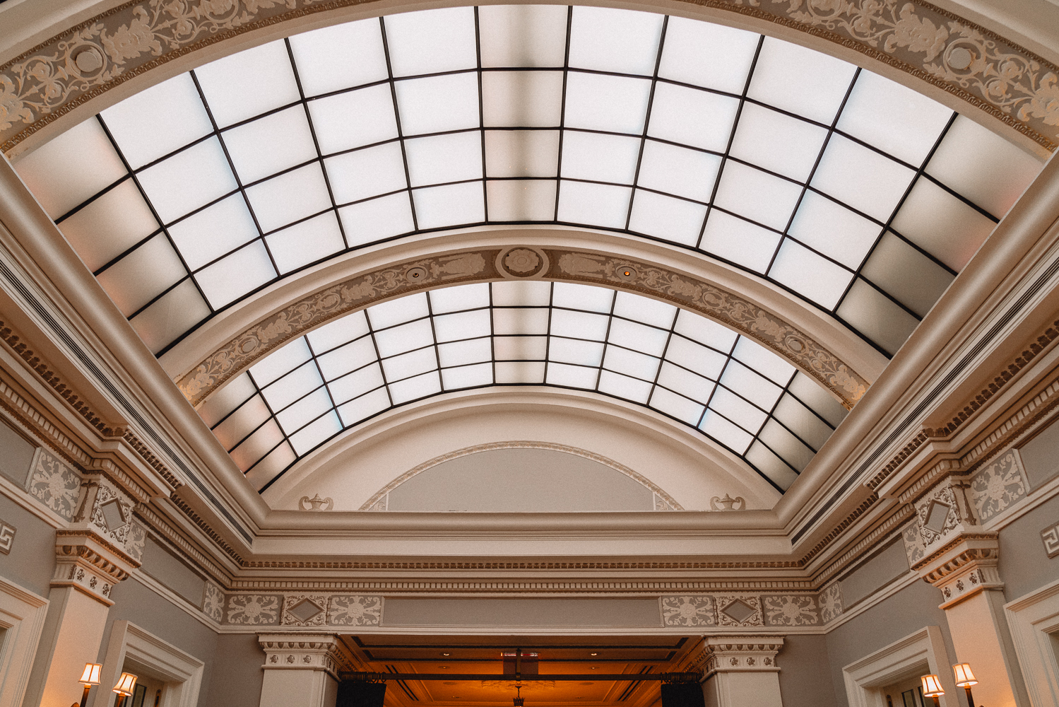The ceiling of the Greenhouse restaurant, at the Jefferson.