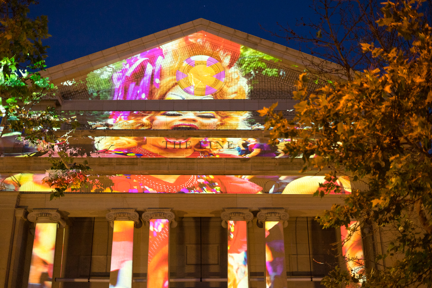 Pride projections by local DC artist Robin Bell  at the LINE Hotel DC.