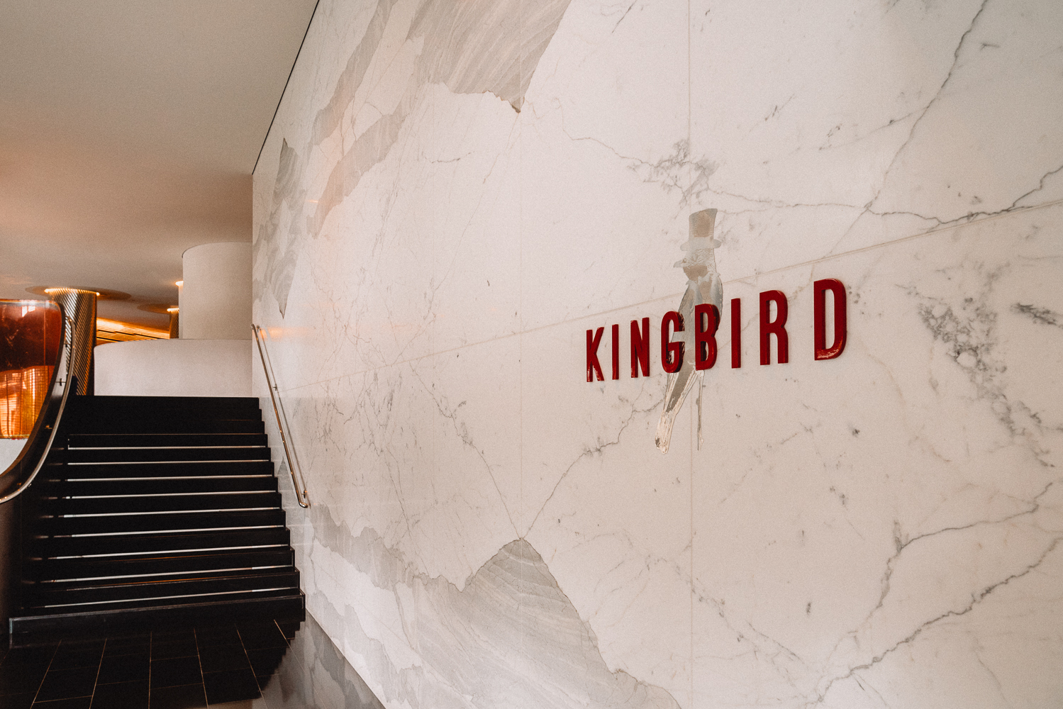 The entrance to Kingbird, the restaurant just off the lobby of the Watergate Hotel.