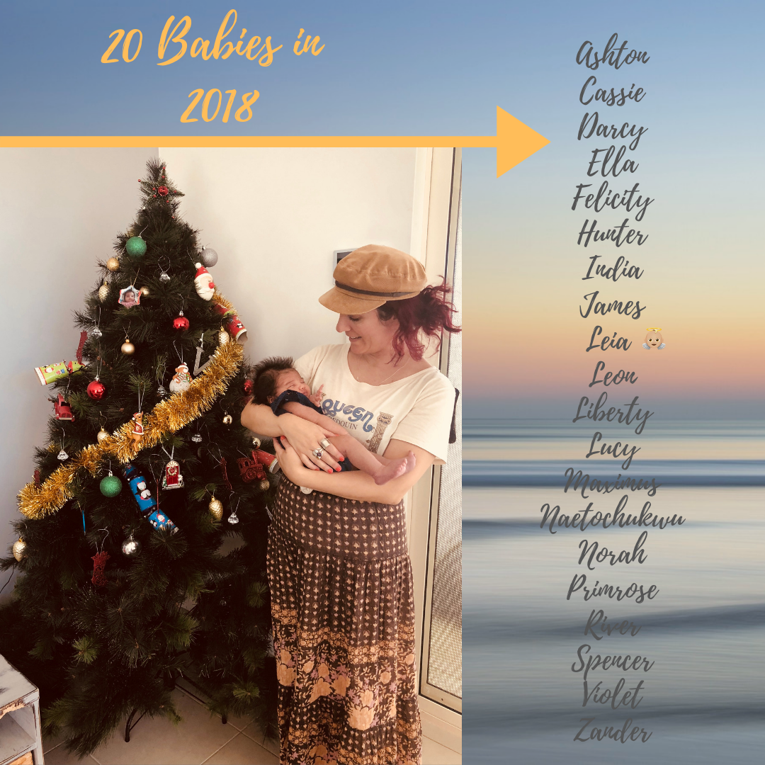 20 Babies in 2018 - 10 girls and 10 boys!