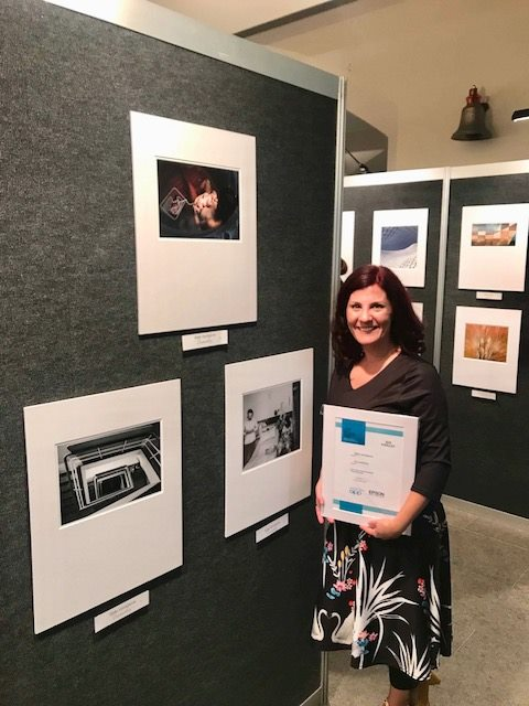 My Silver Distinction Awards on display for the WA AIPP Professional Photography Awards opening night