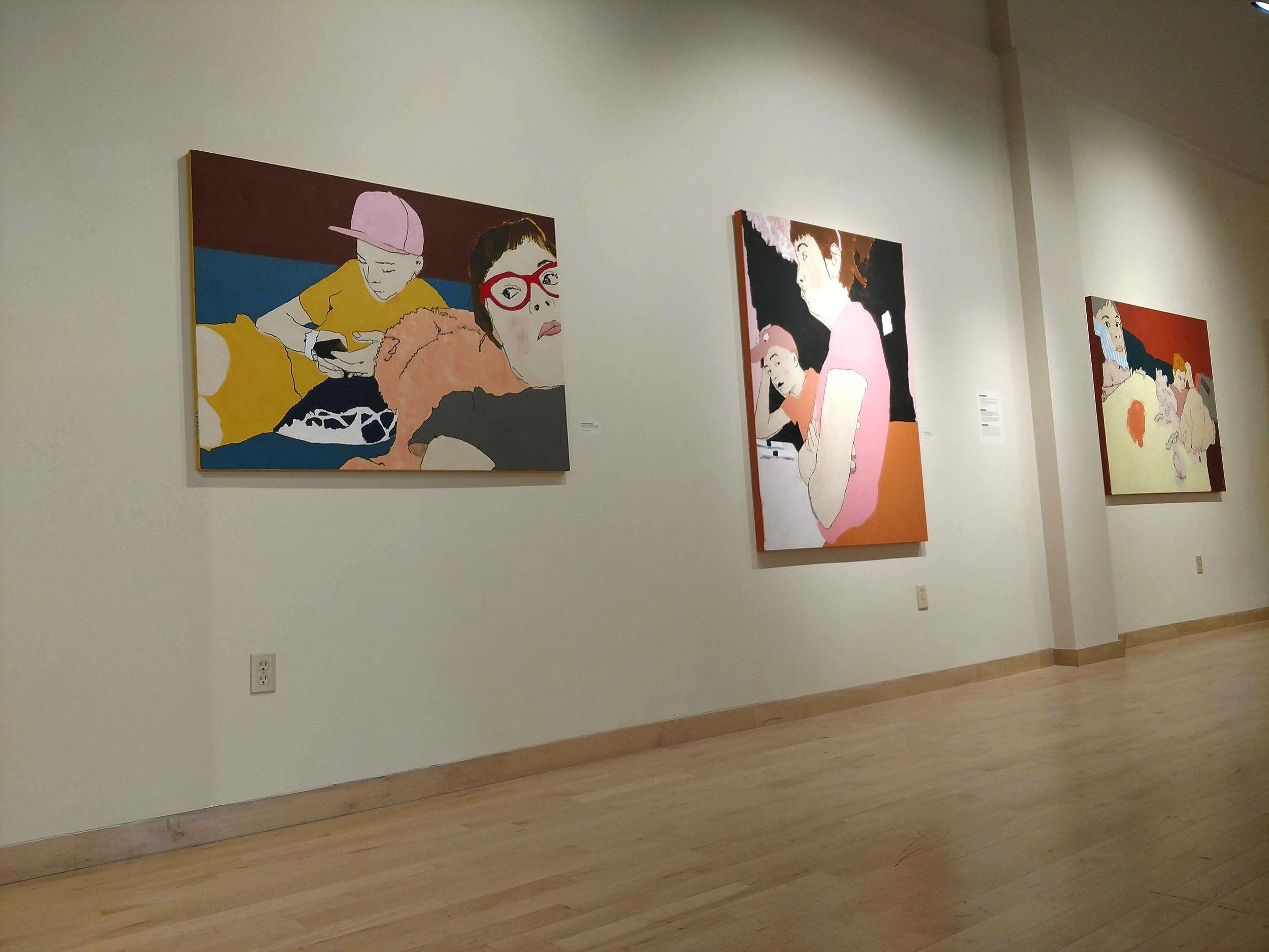 Installation view of Body Language at Krasl Art Center, Saint Joseph, MI