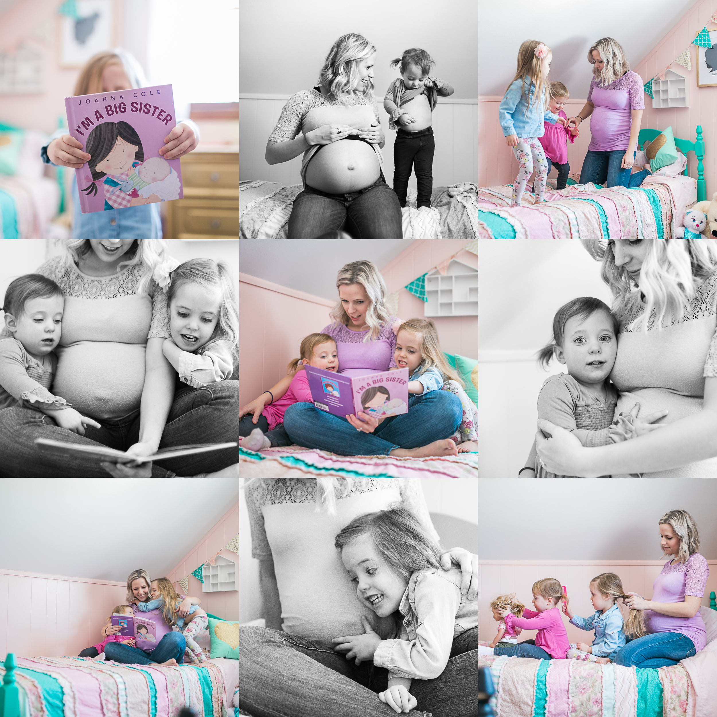 lifestyle indoor maternity session daughters