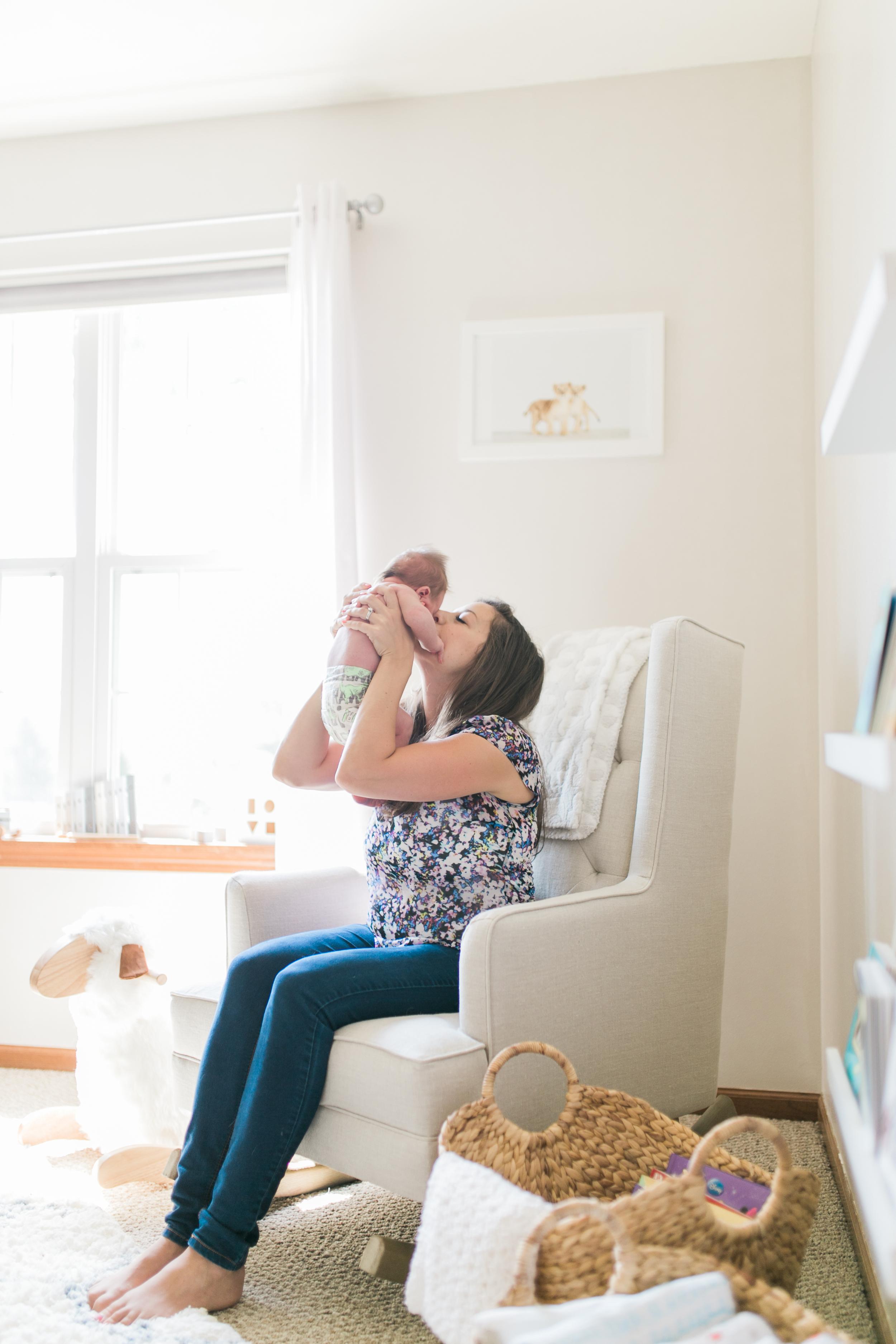 vanessa wyler photography pewaukee oconomowoc newborn lifestyle photos light airy nursery baby animals