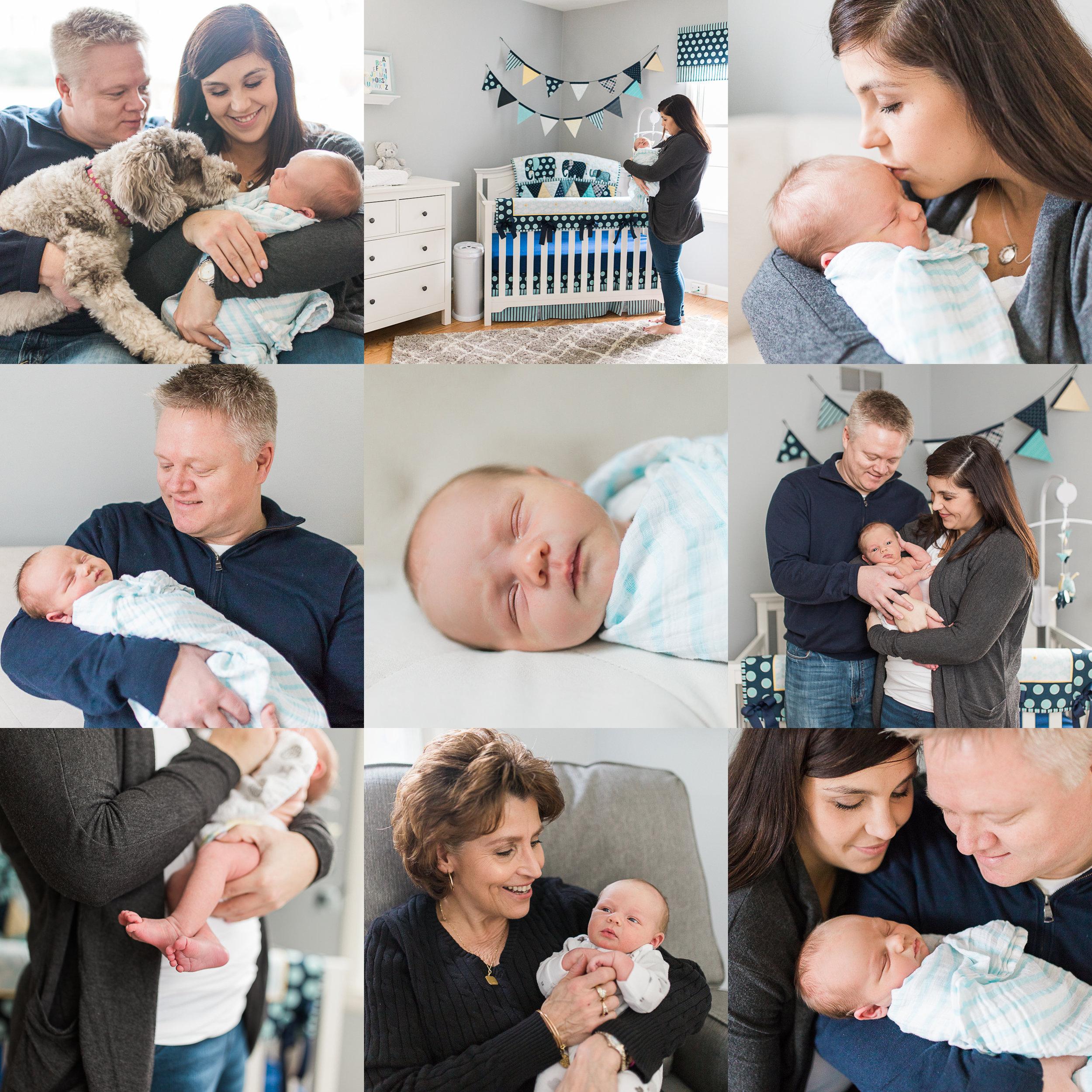 lifestyle in home newborn photography Waukesha