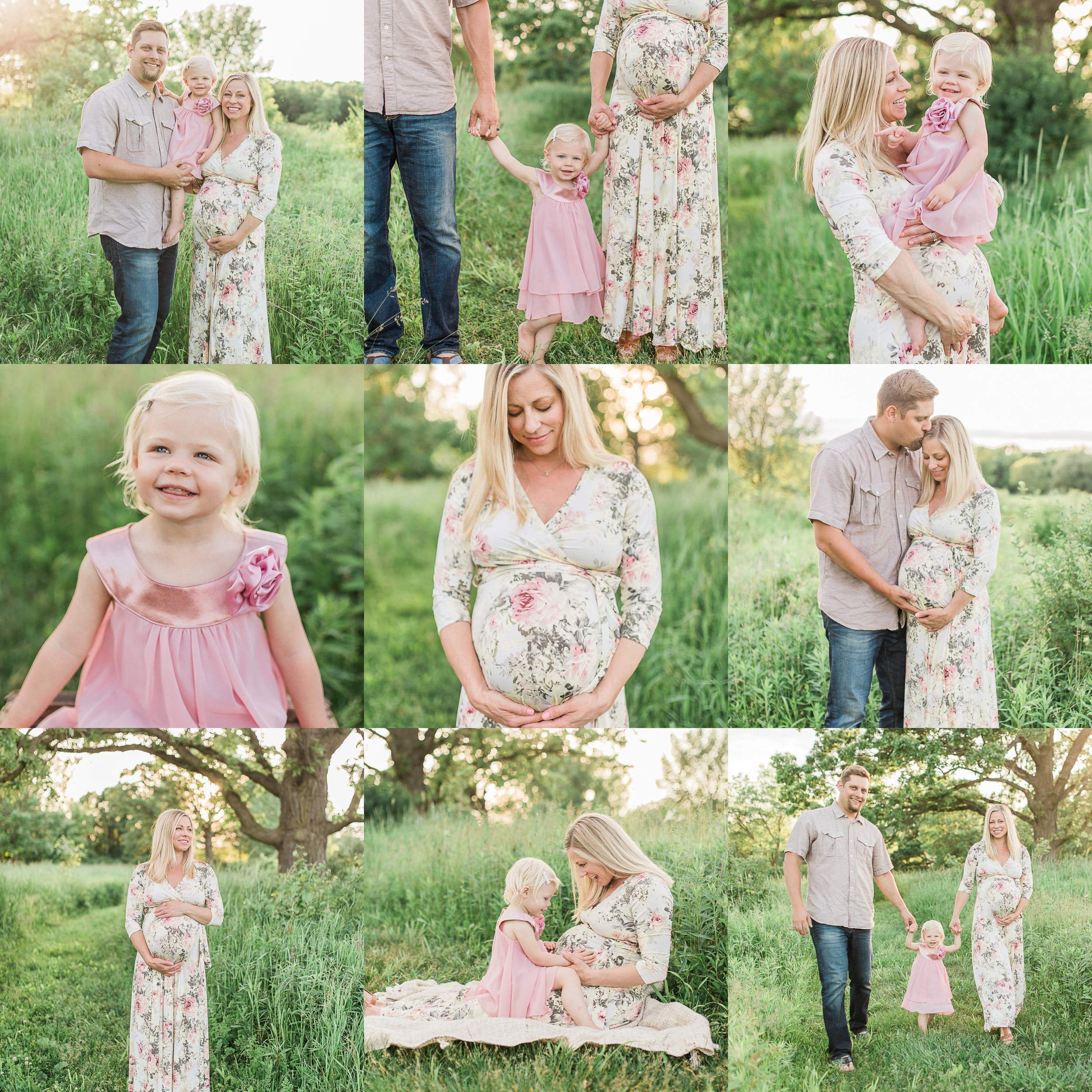 vanessa wyler photography - maternity field sunset brookfield