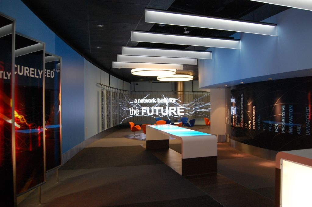 Projected Touchtables and LED mesh help tell the ATT story