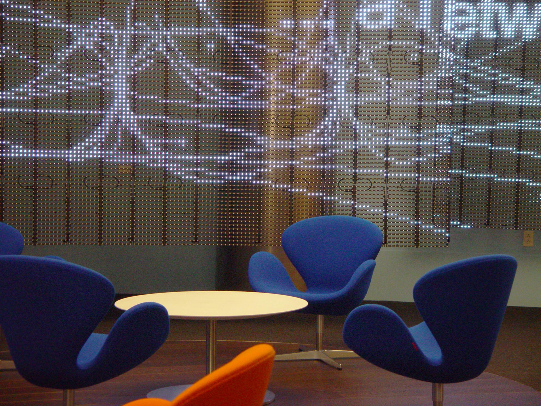Lounge with LED backdrop