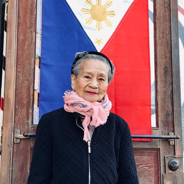 "Get to know my immigrant parents: Angelita Mananzan Valenciano, grandmother, 92 years old. Where were you born? ... ""I was born in the Pagasinan province in the Philippines and it's far from the Tagalog region. They call the people there Pangalatok. I can still speak the language. It's a provincial town but they are progressing it's a big province. They eat a lot of fish and fresh vegetables. They are famous for their bagoong (fermented fish). It's nicer and richer than the other provinces. It's beautiful because you can swim in the rivers and go fishing and harvest fresh vegetables."" #lola"