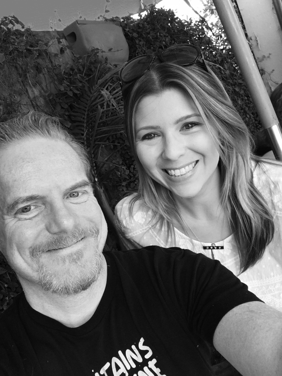 Liz Loza and Chris do lunch in L.A.