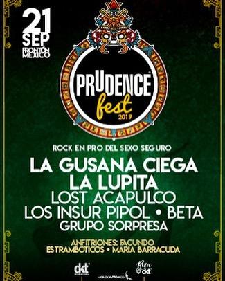 ¡Felices de participar e el #prudencefest! Nos vemos el 21 de septiembre en el @frontonmexico.