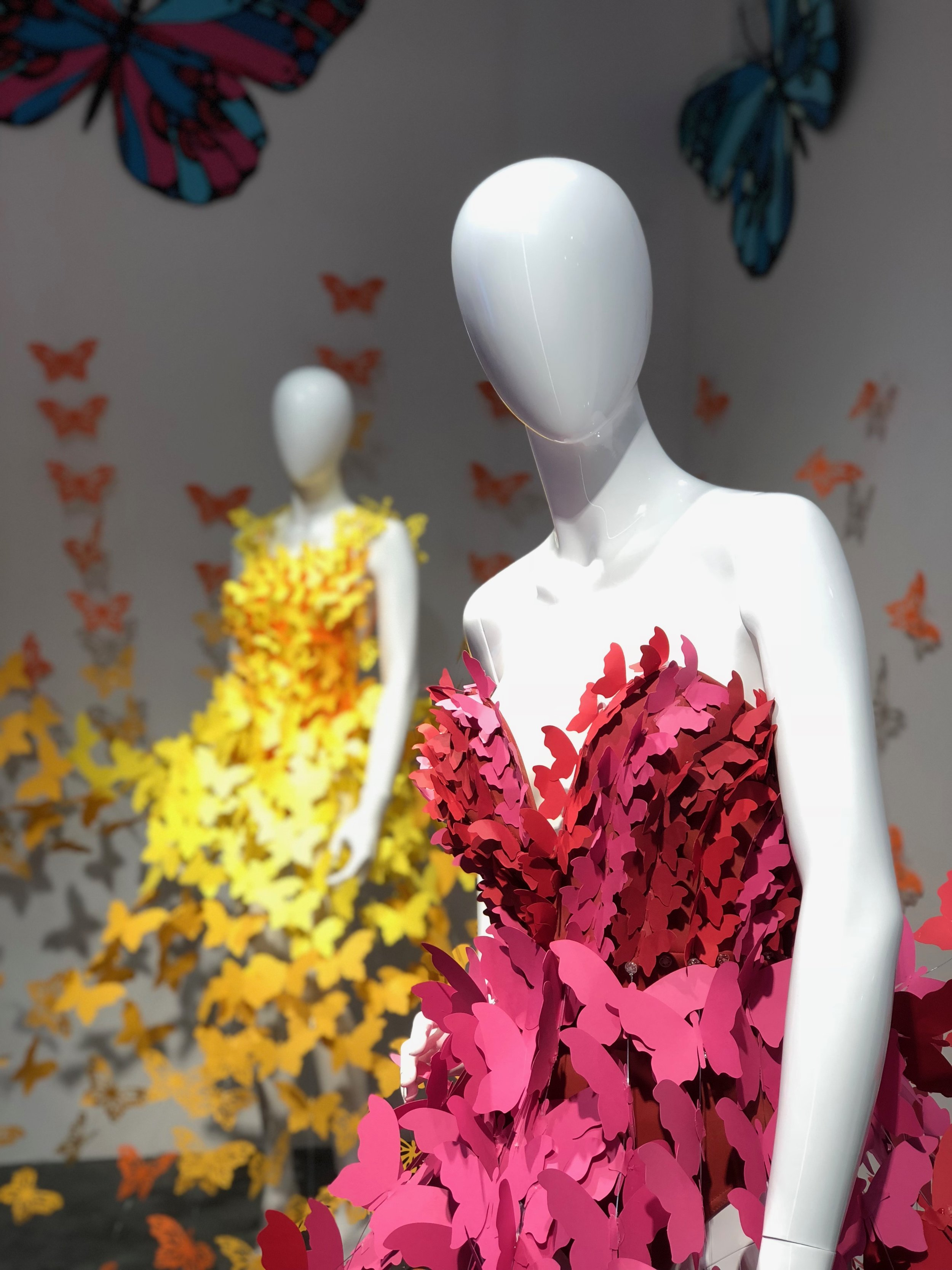 Closeup of butterfly dresses, Birkenhead Point Shopping Centre, Credit: Art Pharmacy Consulting