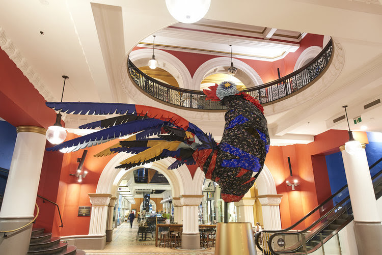 We collaborated with Reso & Co,artist Jeff McCann and designer Maker Maker Creative to create a 4-metre high rooster for the QVB.