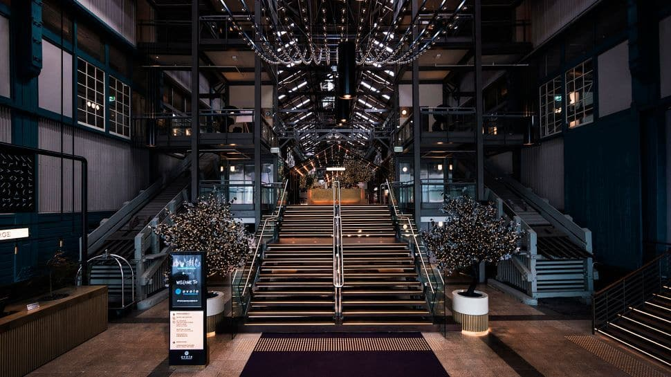 The Ovolo Woolloomooloo, has an amazingly compelling lobby space, which complements its in house  art direction . Credit: Ovolo