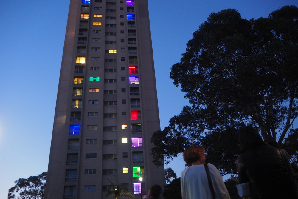The #WeLiveHere2017 project, focussing on a housing social issue, was part of Sydney Contemporary