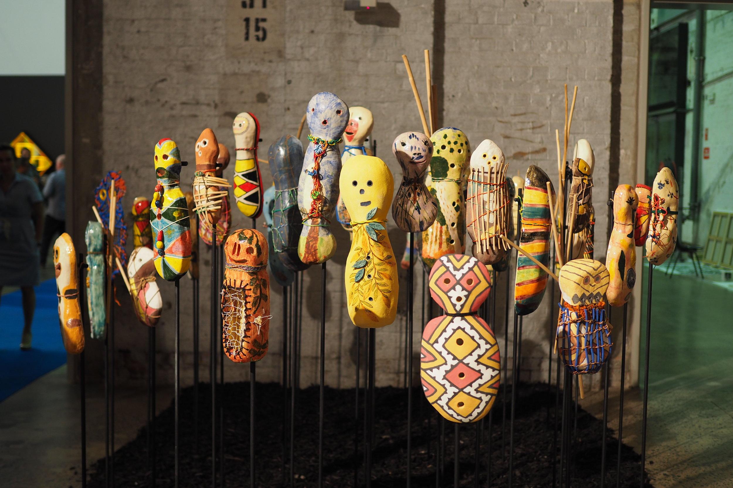 Girringun Aboriginal Art Centre 'Bagu of Girringun', Sydney Contemporary 2018, CREDIT Art Pharmacy Consulting