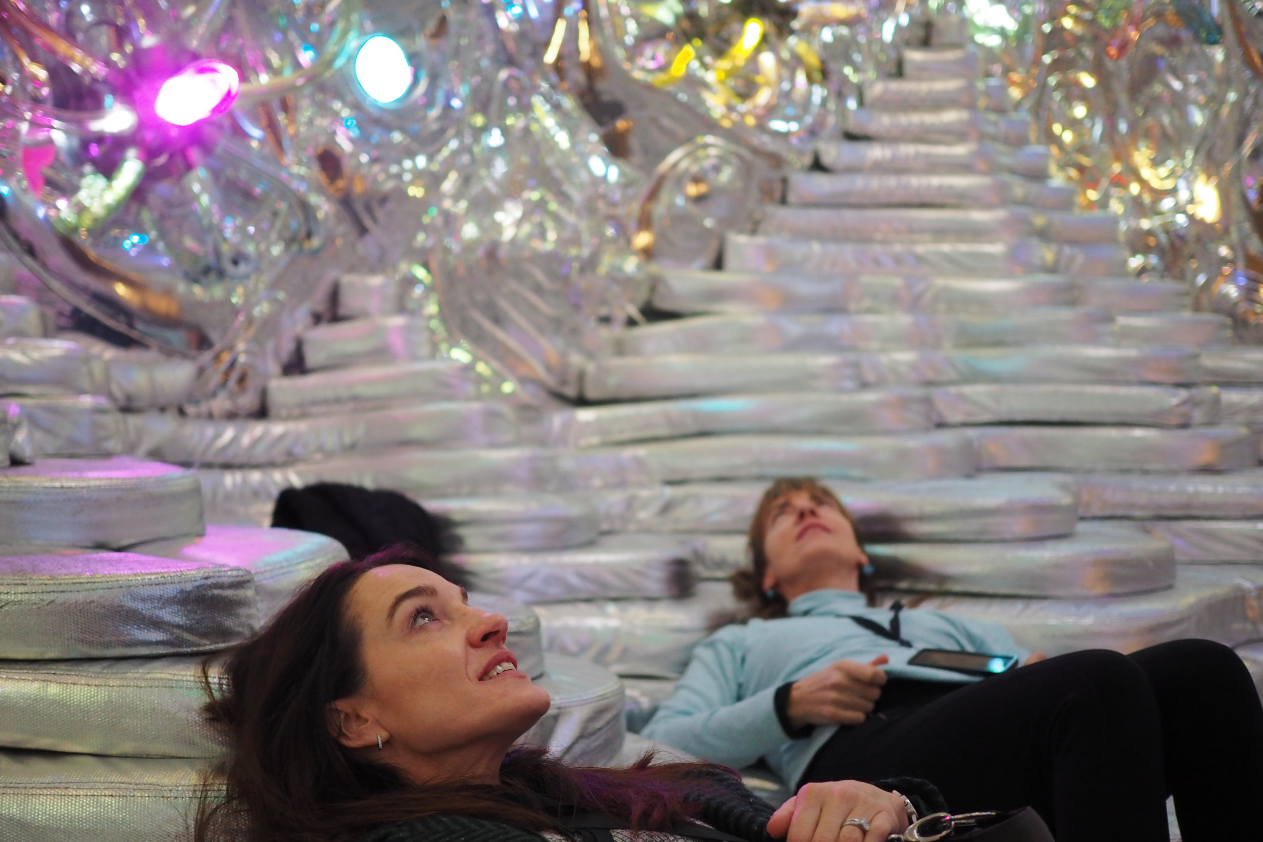 I'd love to see something immersive like 'Grotto' in a hospital environment.   Grotto, 2017, Randy Polumbo, MONA, credit: Culture Scouts / Art Pharmacy Consulting