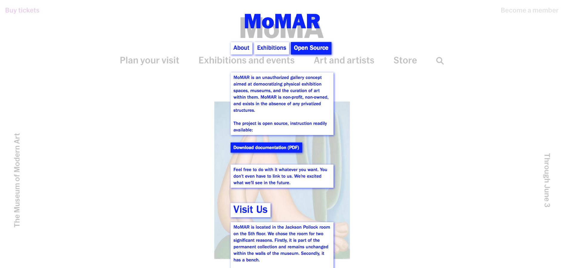 MOMAR's  site is peak nineties