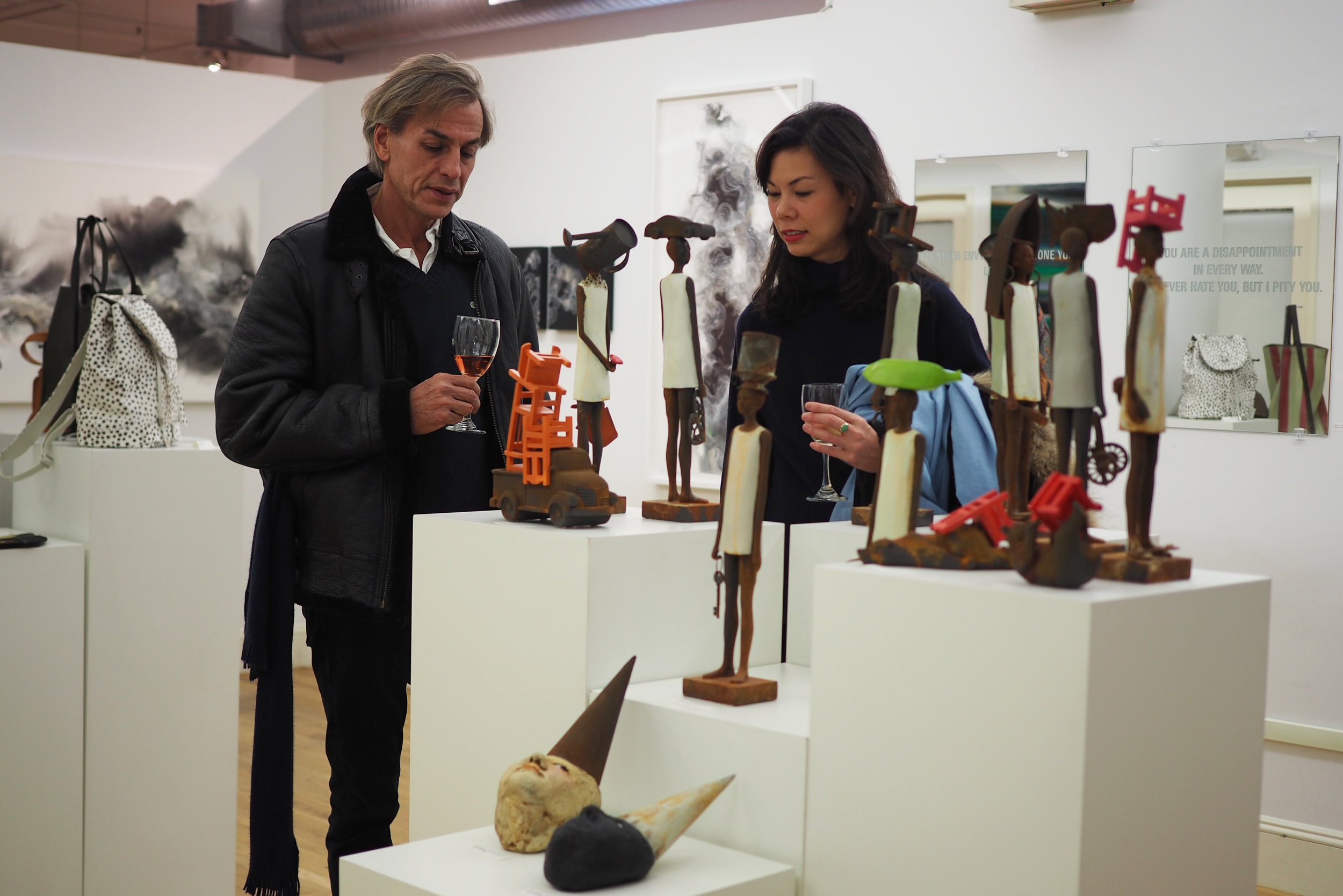 At one of their trademark opening, visitors can visit the curated merchandise on sale. Credit: Art Pharmacy Consulting