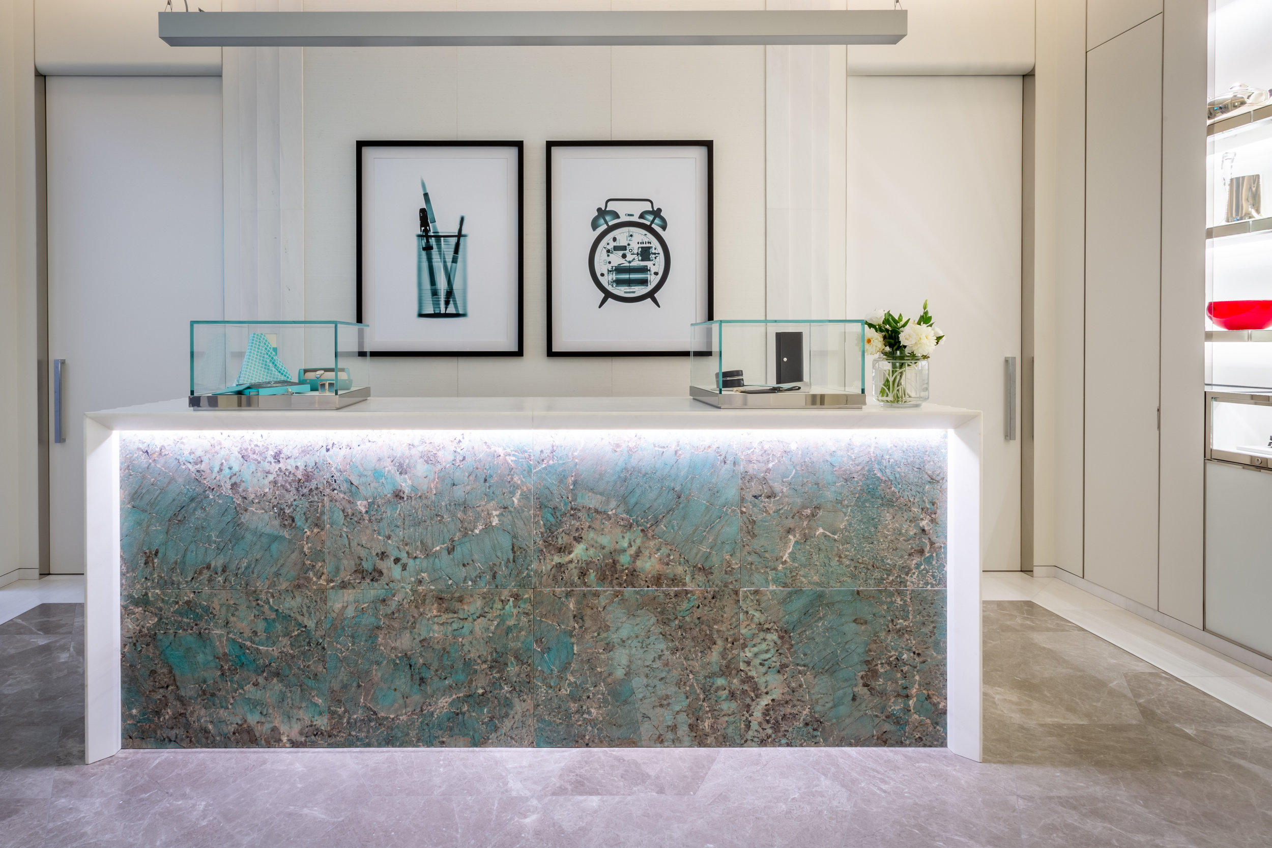 Brendan Fitzpatrick's X-Ray Images in Tiffany & Co. Sydney.  Image Credit: Jodie Barker.