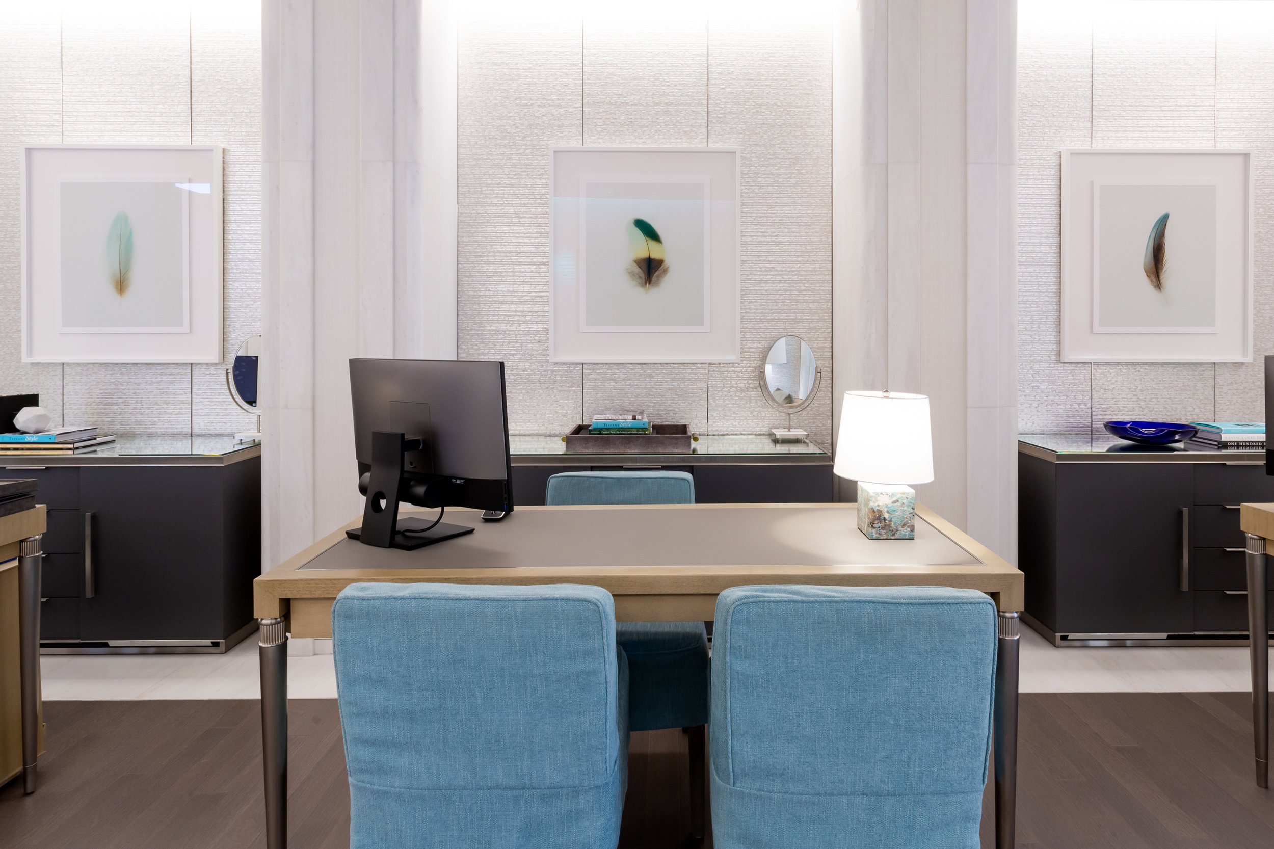 Jared Fowler's 'Feather Image Series' in Tiffany & Co. Sydney.  Image Credit: Jodie Barker.