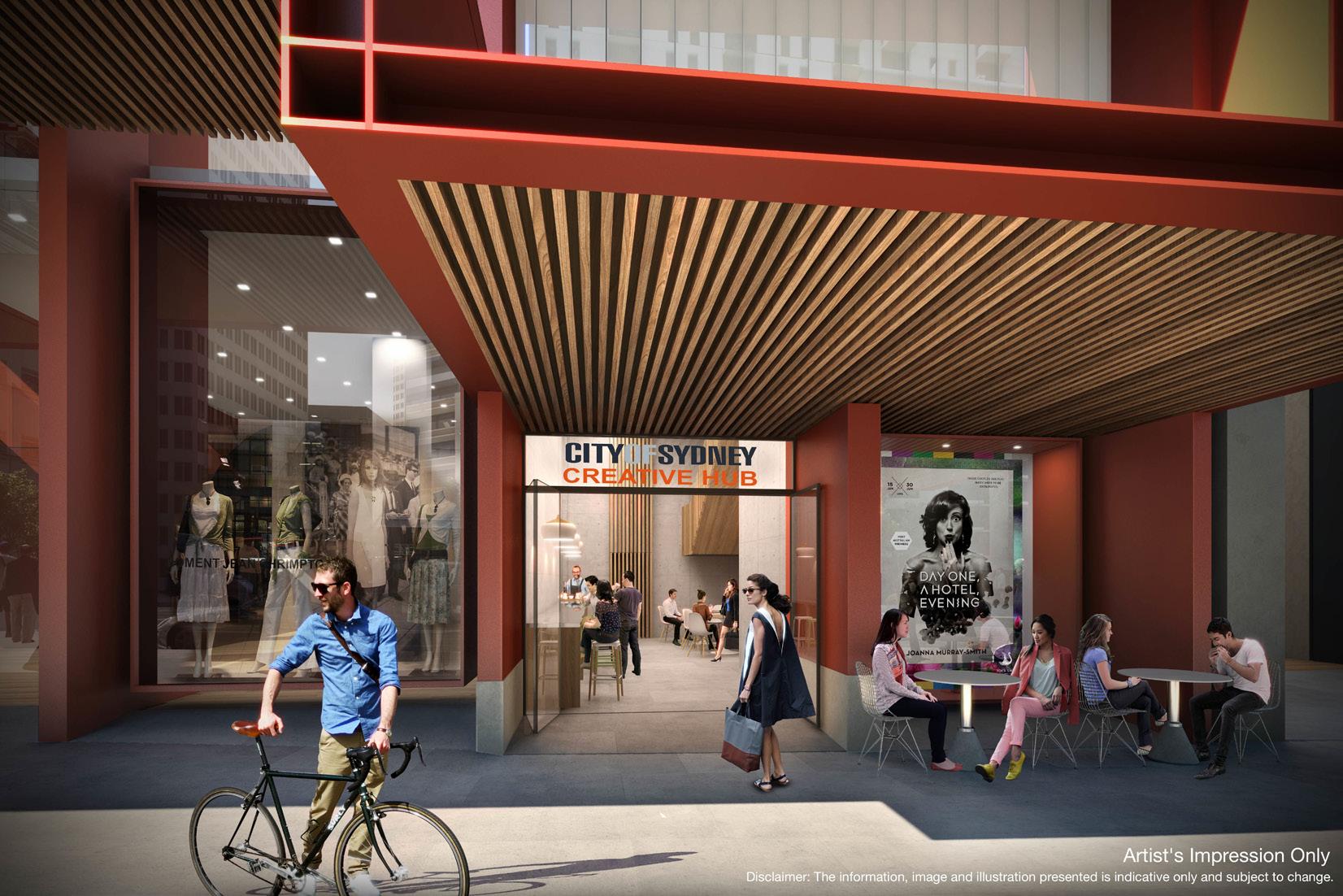 Artist's Impression of the Bathurst Street Creative Hub. Image Credit: City of Sydney.
