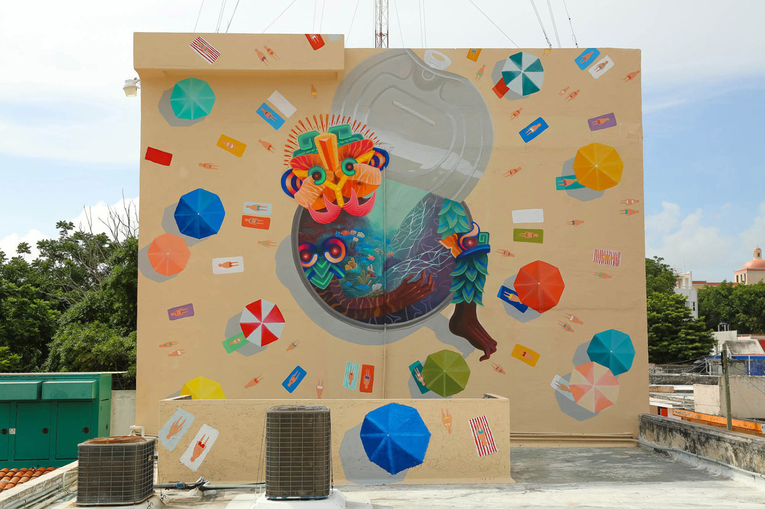 An example of a  Sea Walls  mural by Curiot.