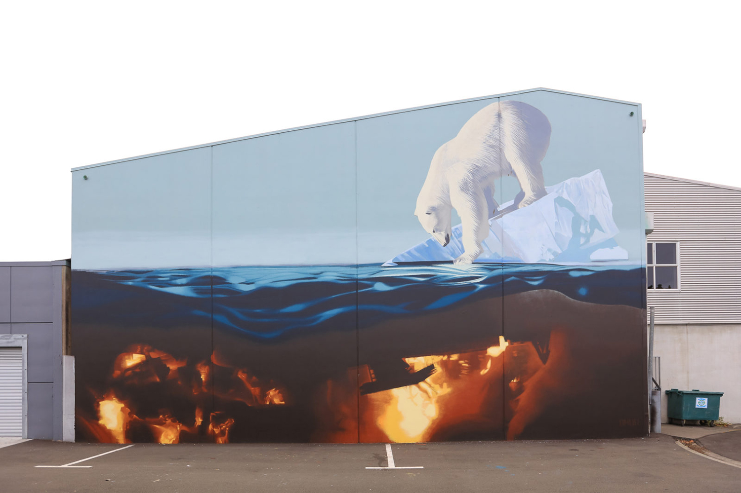 An example of a  Sea Walls  mural by Onur.