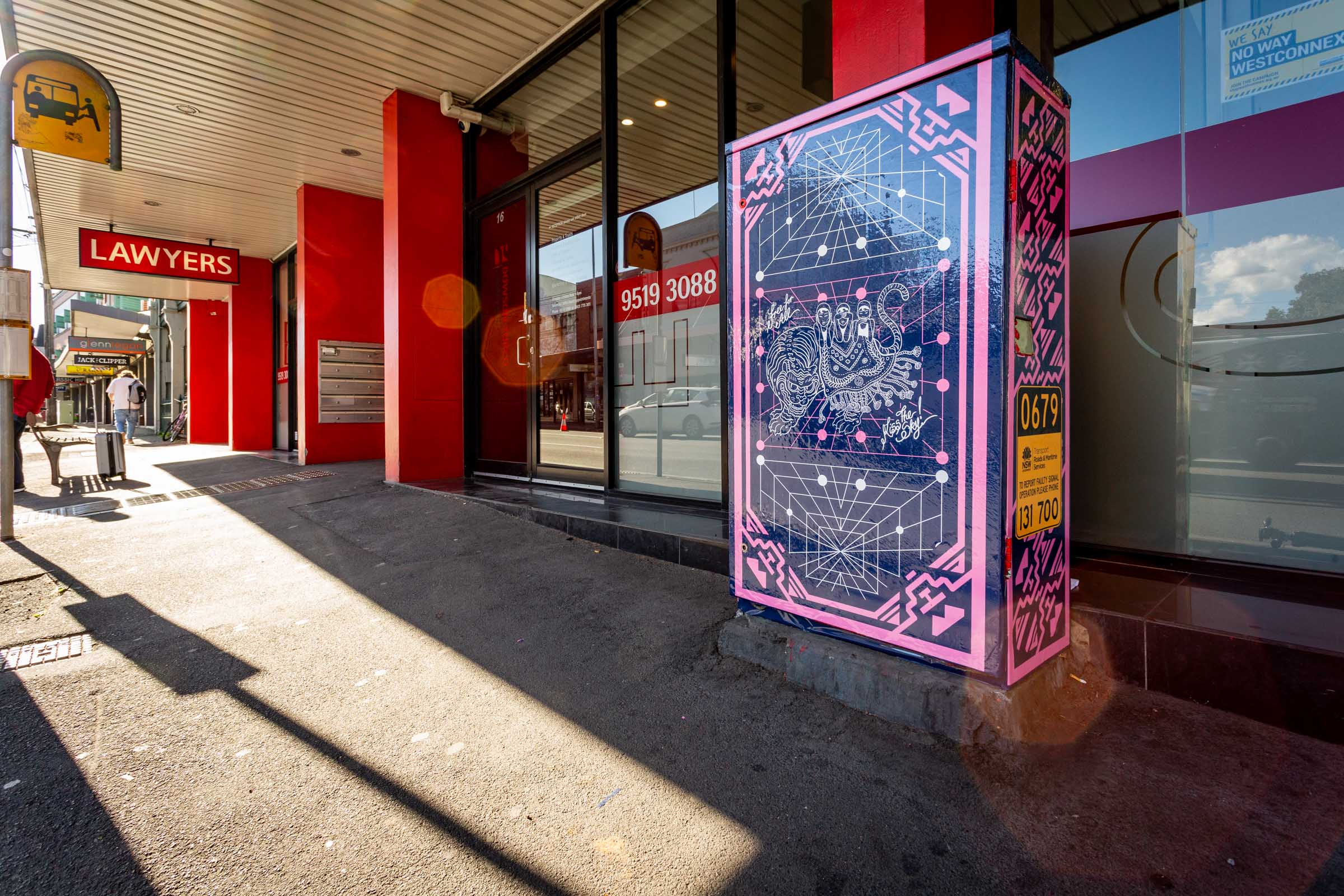 Chris Yee's signal box at King Street and Union Street. Image Credit: Art Pharmacy Consulting / Jodie Barker