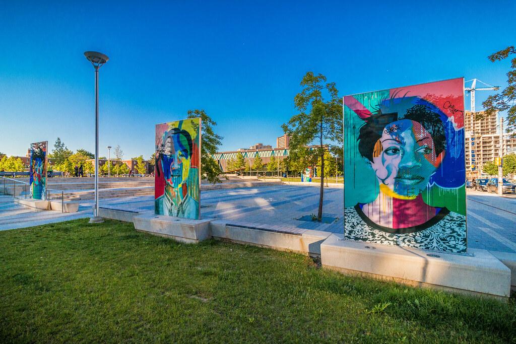 """""""Faces of Regent Park"""" by artist Dan Bergeron. Image credit: A Great Capture / Artscape Atelier."""