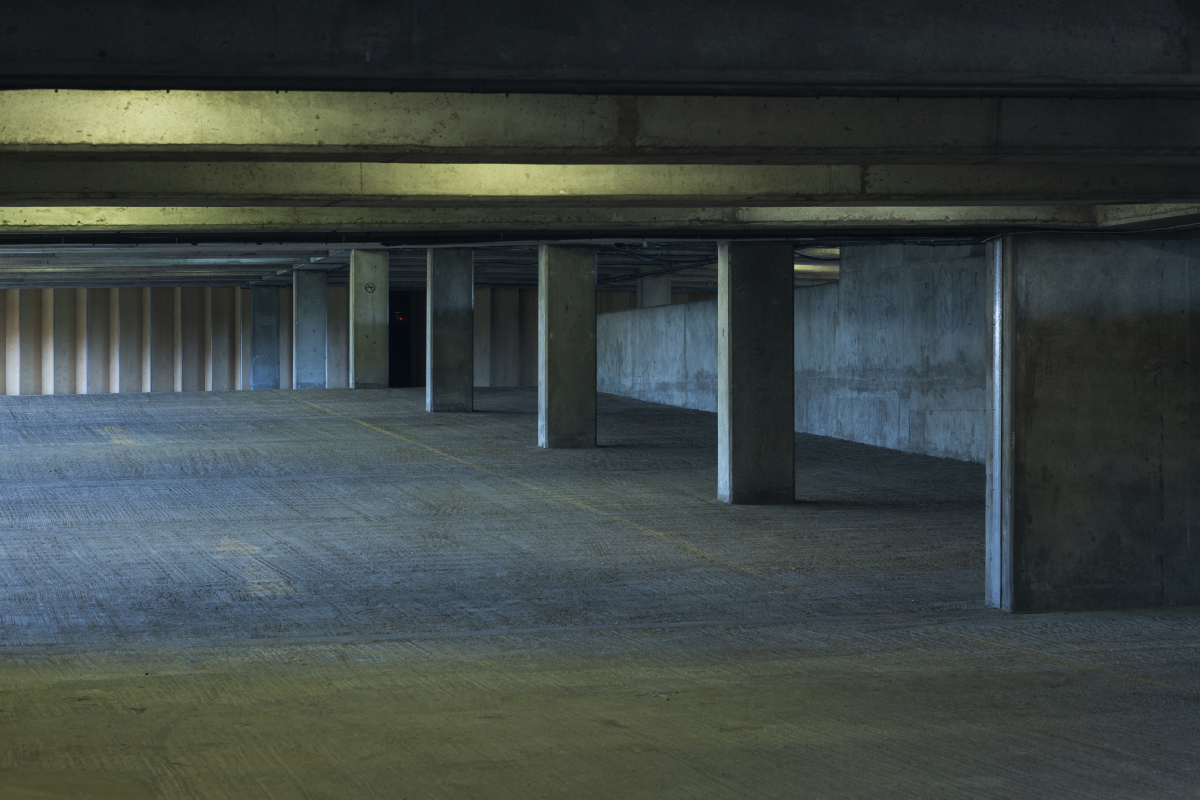 A level of the Bold Tendencies car park before it's art make-over. Image Credit:    Bold Tendencies