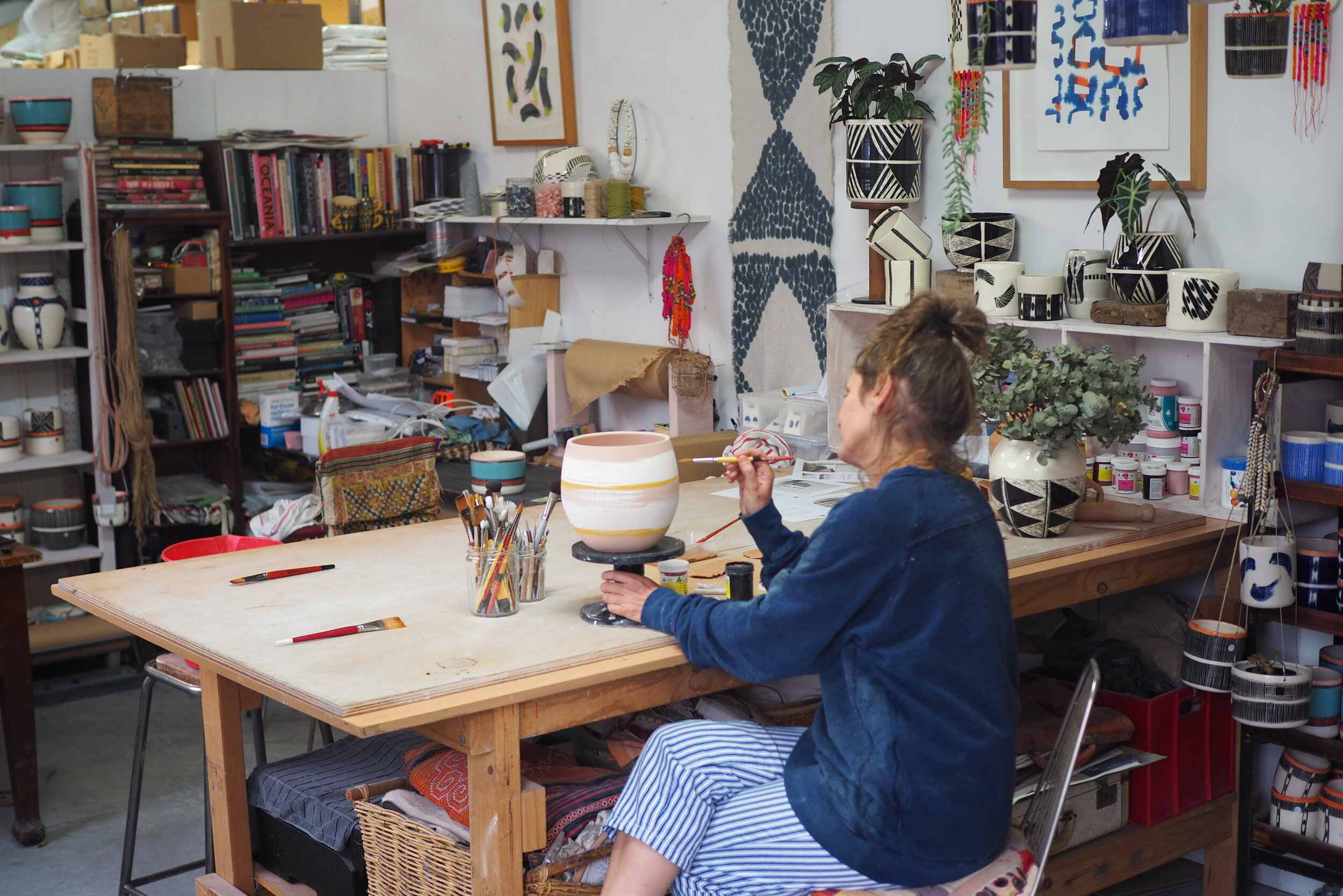 A ceramist at work in her studio in Marrickville, Sydney. Image Credit:  Culture Scouts