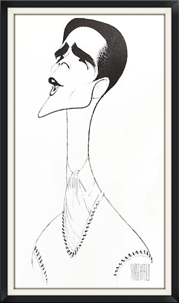 Howard in  Anything Goes  , byAl Hirschfeld.