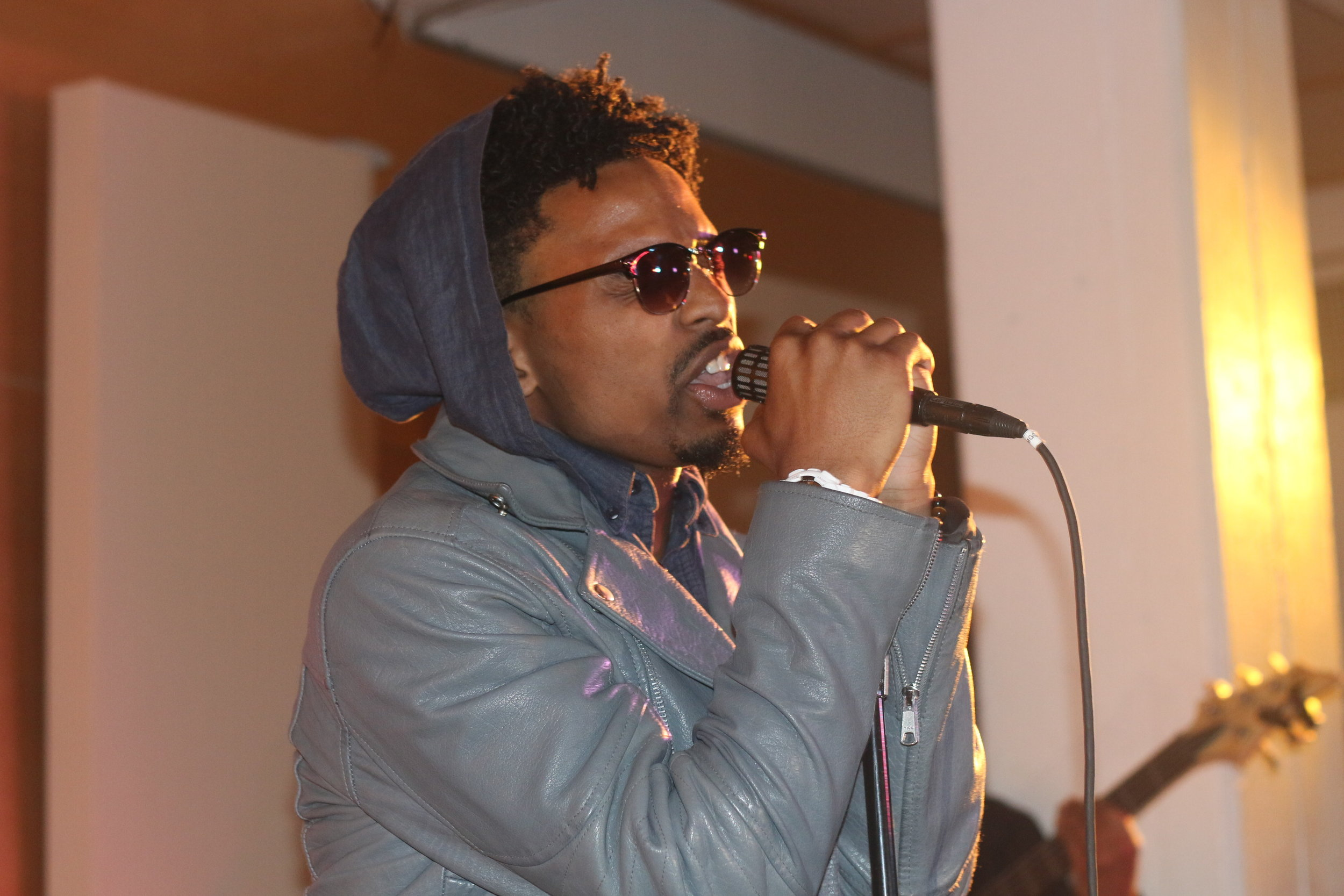 Singer Brill Performing at Henny and The Homies