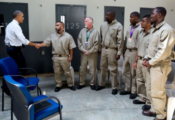 President Obama made history when his was the first sitting President to visit a Federal Prison