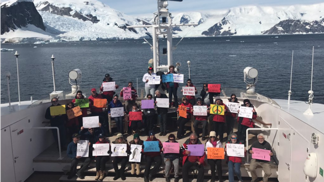Women's March reached Paradise Bay, Antarctica  Photo: Linda Zunas/The Hill