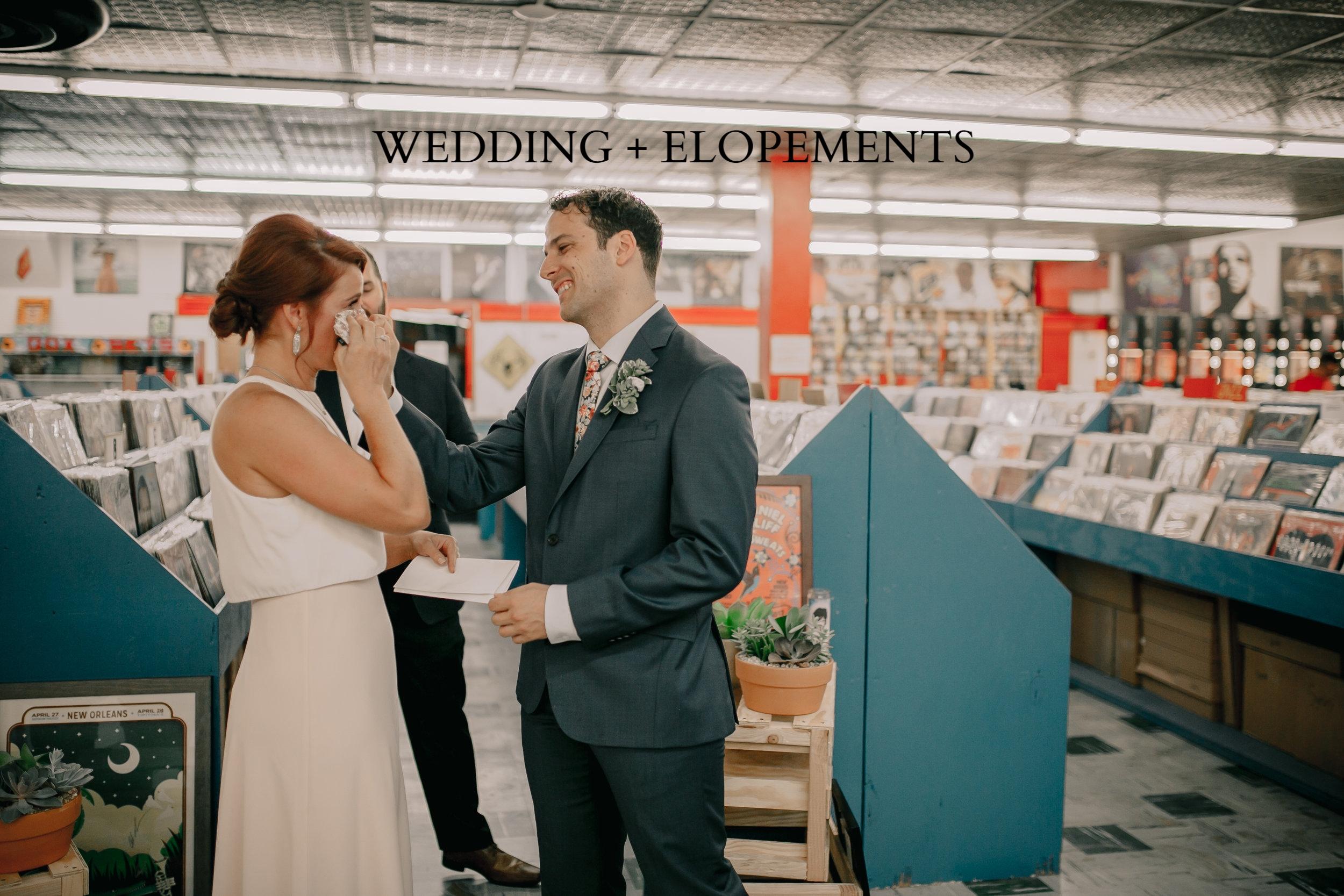 WEDDING + ELOPEMENT -
