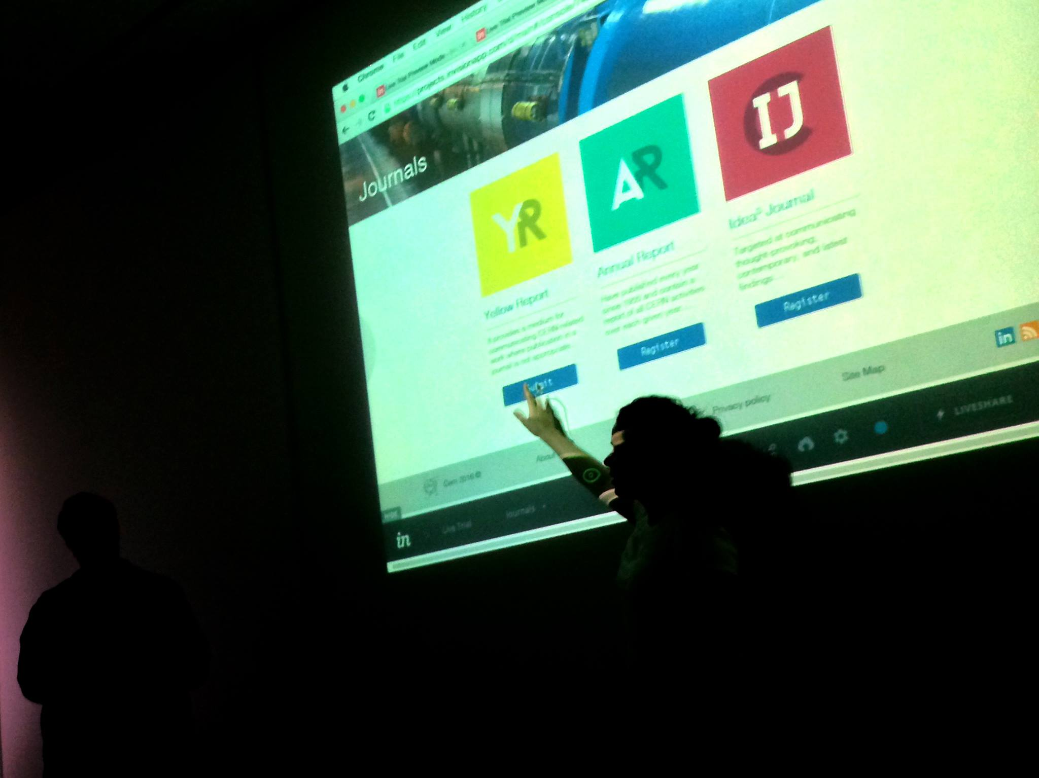 We used InVision in order to map out the site. It was also how the client controlled the live demo.