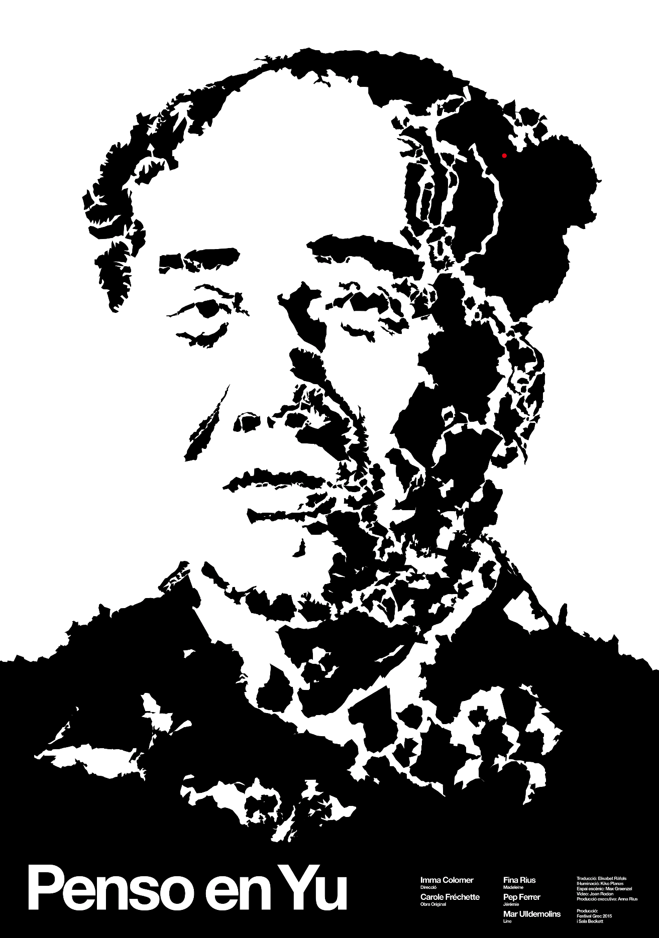 'Continental Mao'. Based on the classical Mao Tse Tung portrait. It's inspired in   Kentaro Nagai's work with reorganising territories to make new forms  .