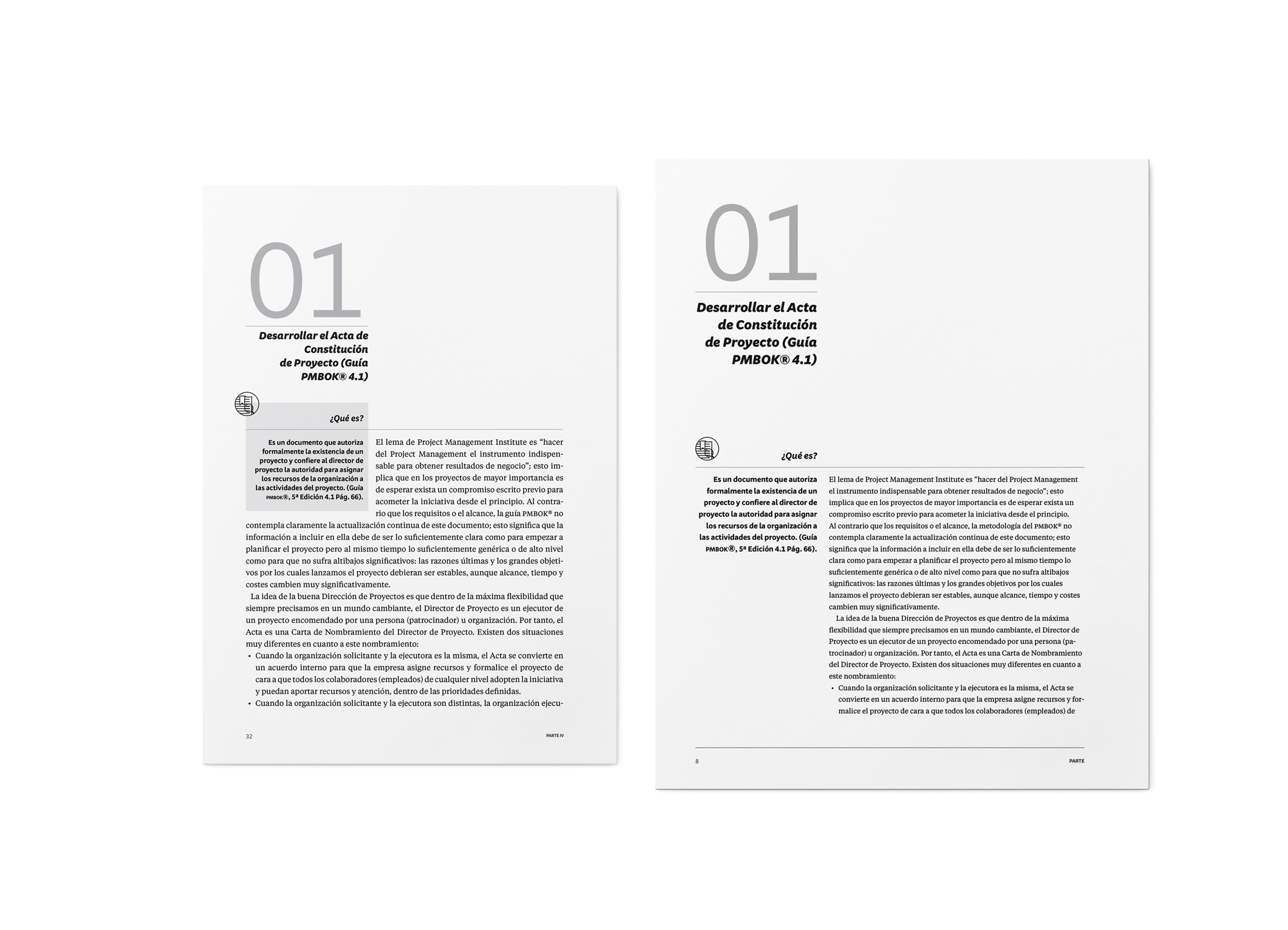 On the left, the published layout and size, compared to the version that was being developed before.