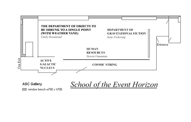 True Stories from the Event Horizon (floor plan with departments), 2014