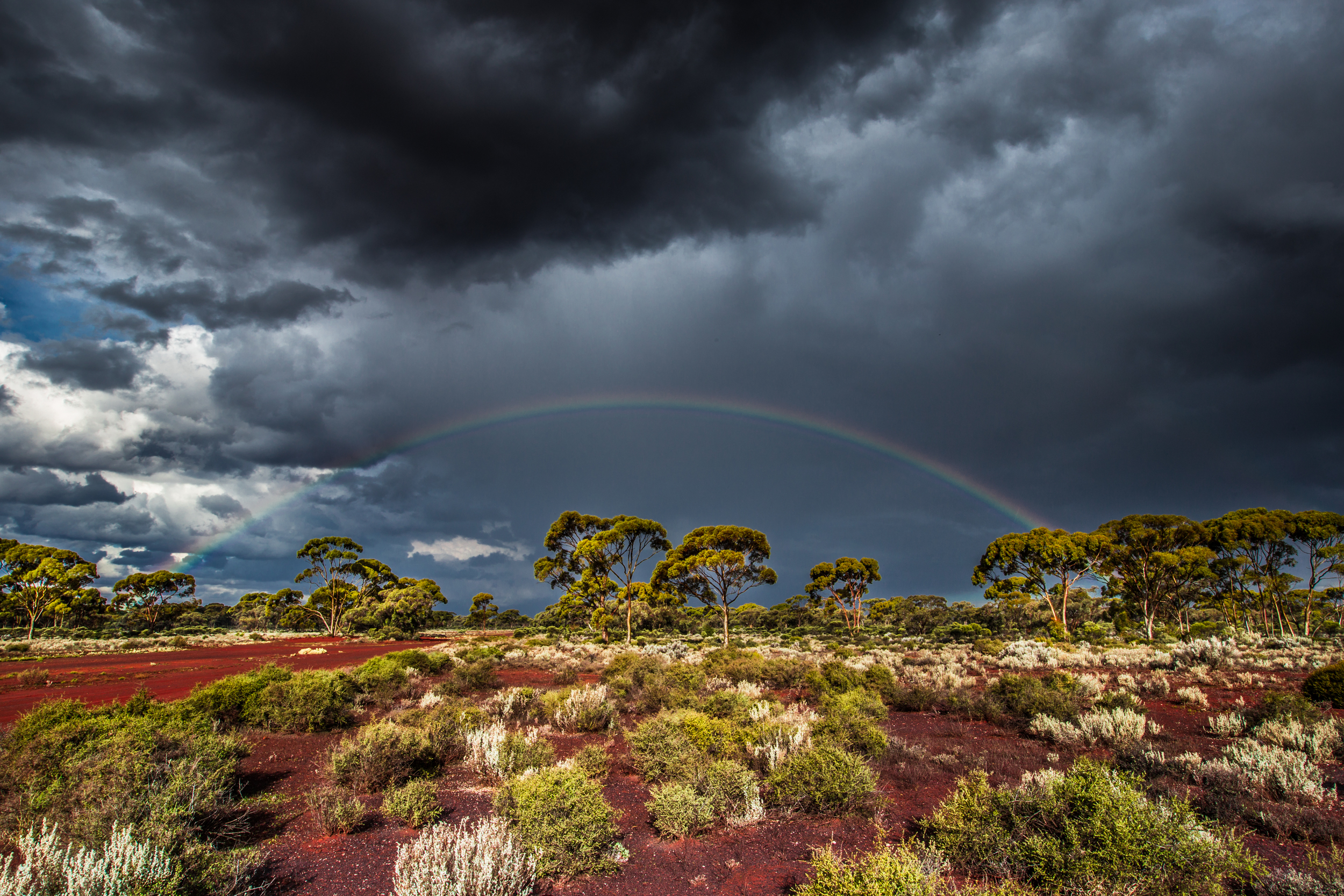 Rainbow over the Eastern Goldfields. Image credit to: DMR Photography. Image supplied courtesy of the Goldfields Tourism Network Inc.