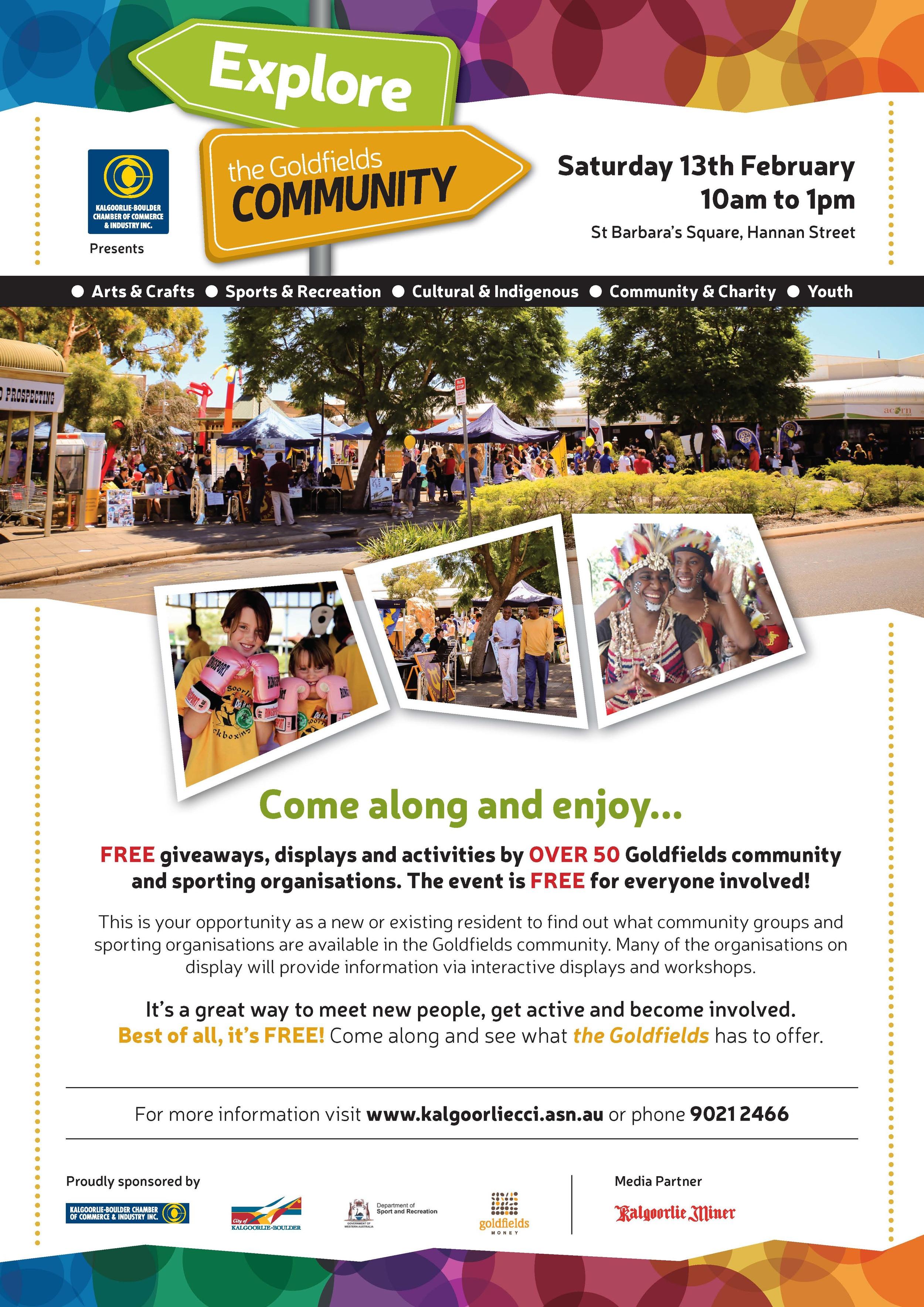 Goldfields Community Expo Flyer