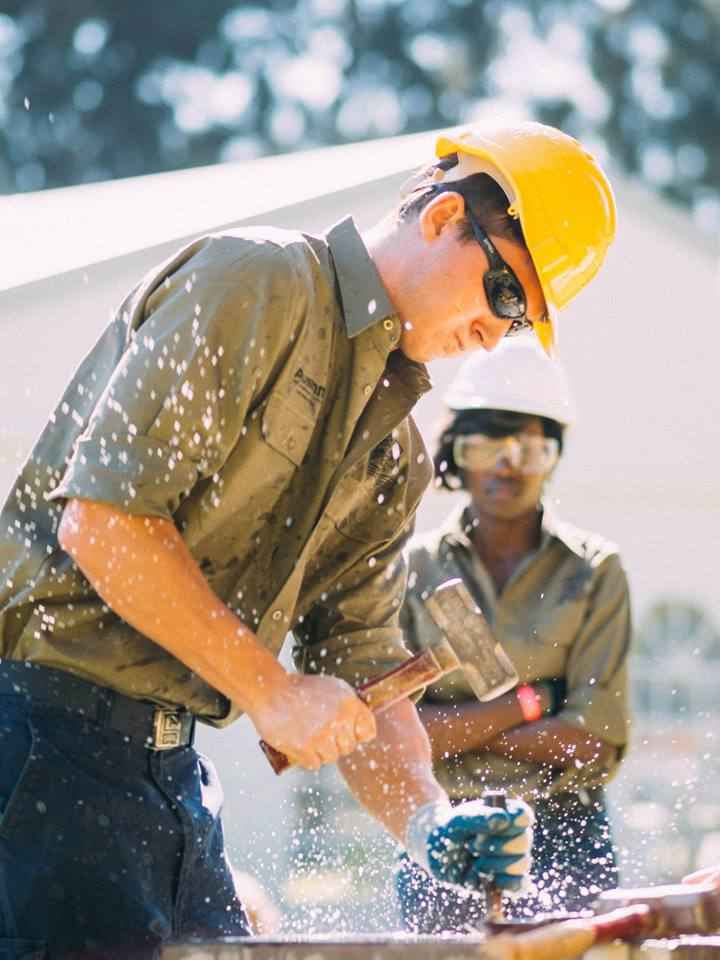 Nicholas Reid Hand Steeling at the 2014 National Mining Games Competition in Perth.