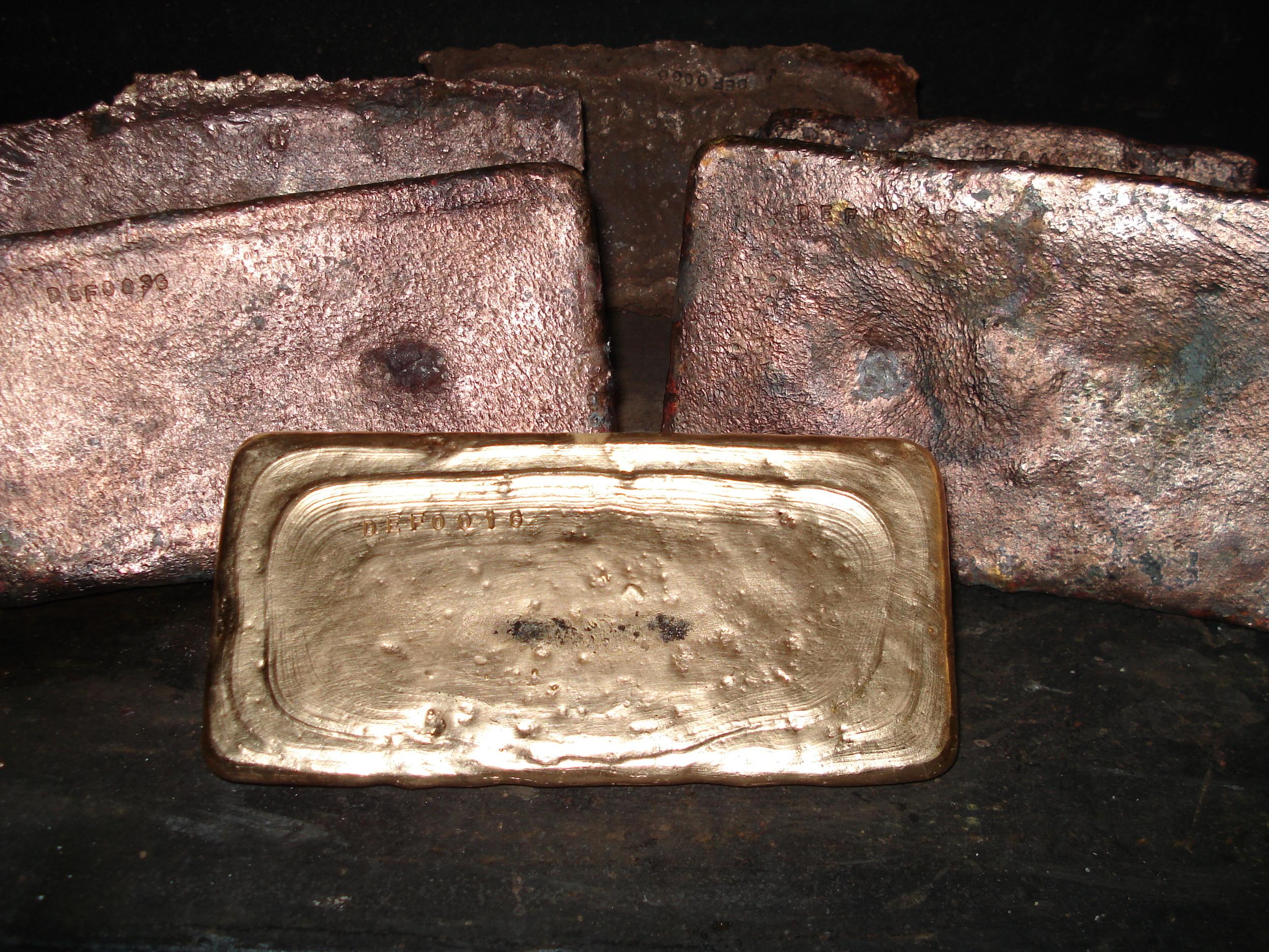 Deflector first gold bars
